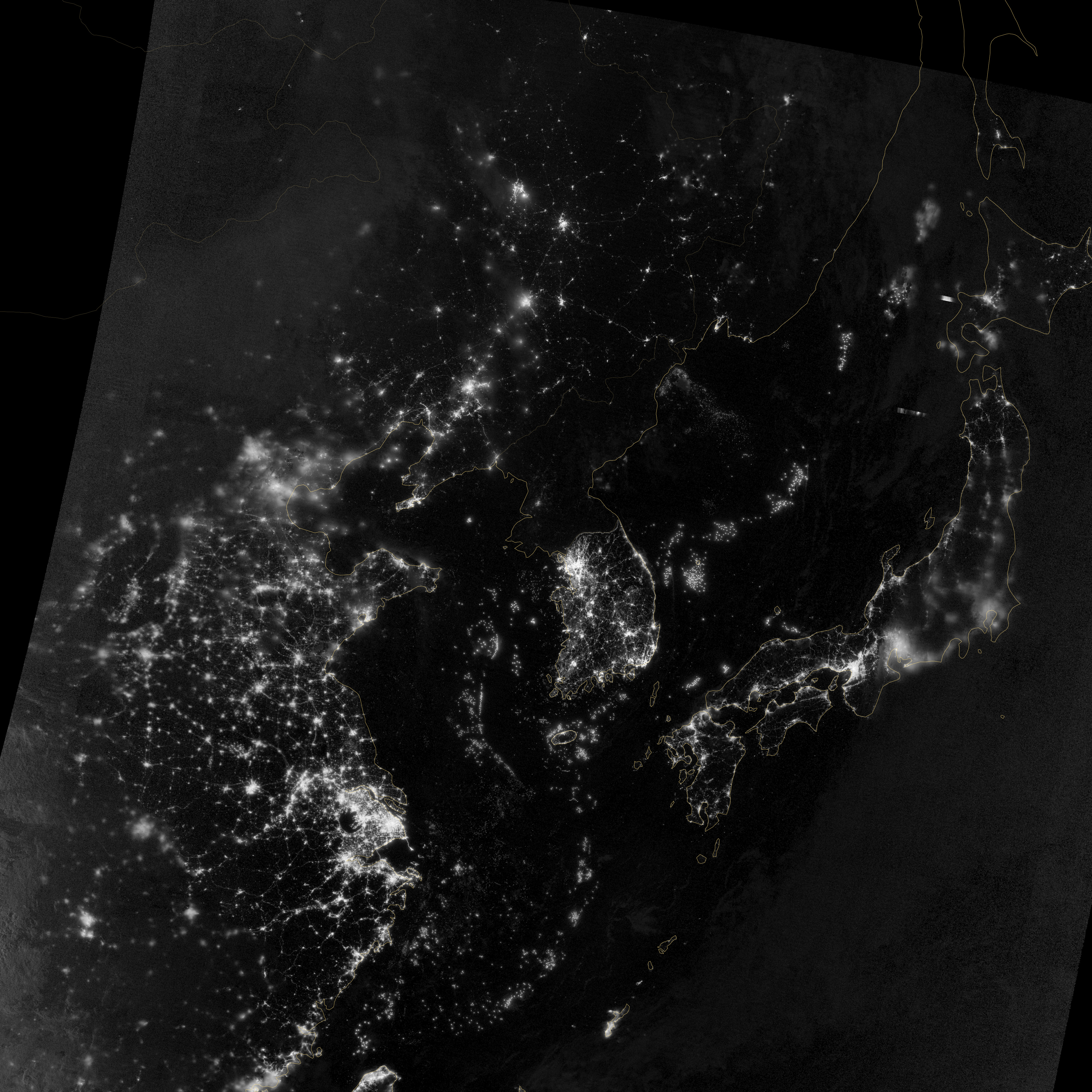 A New, Highly Detailed Image of North Korea's (Lack of ...