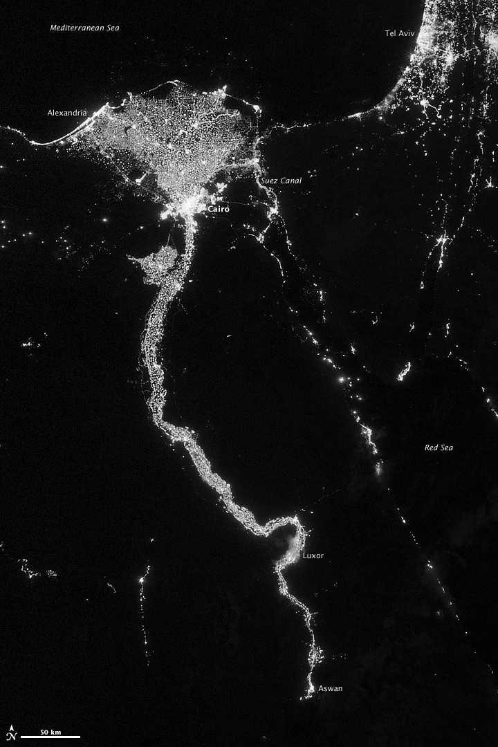 Egypt, from space